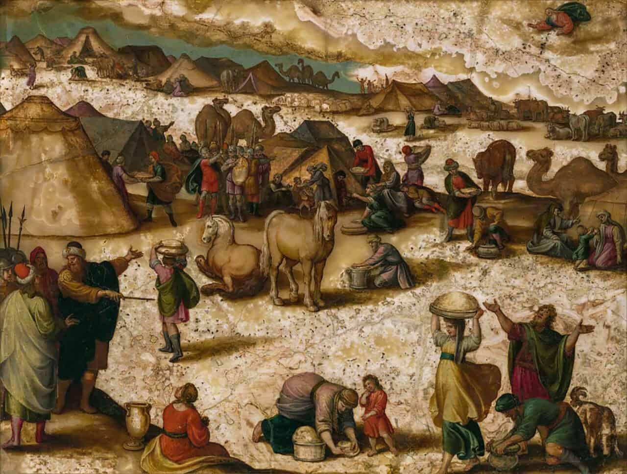 Gathering of the Manna, Antonio Tempesta, 1555-1630