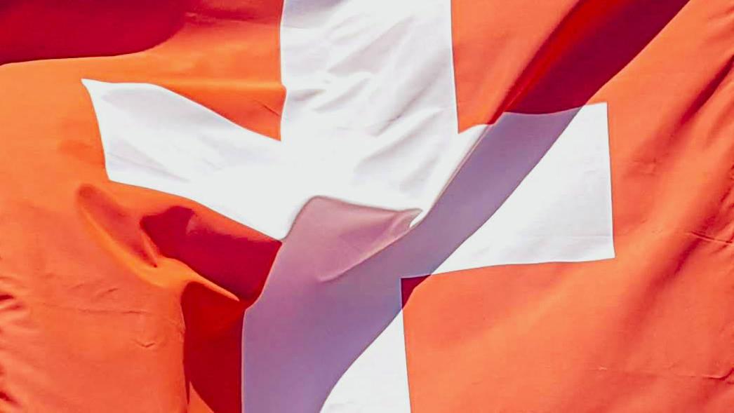 Die schweizer Fahne. Bild; Peter Bruderer